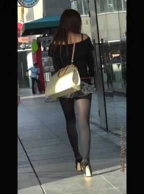 5-高跟黑丝包#臀牛仔热#裤