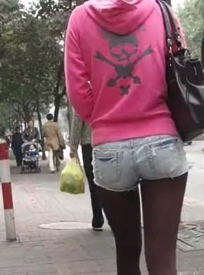 街拍热裤016