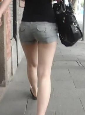 街拍热裤097