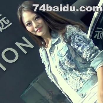 2014武汉车展213牛仔短裤mm秀美腿